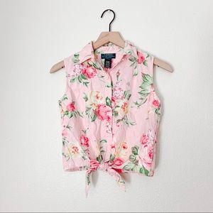 Ralph Lauren | Shabby Chic Floral Crop Top